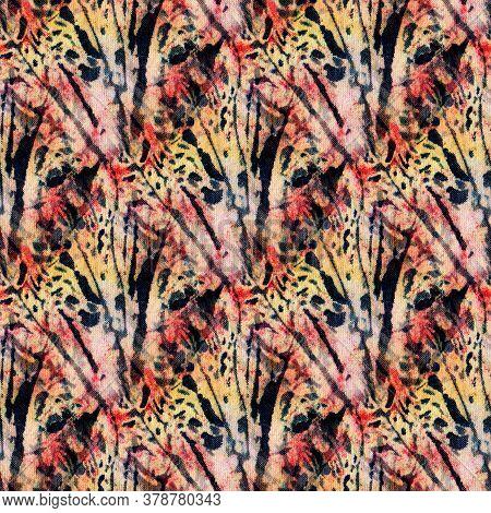 Tie-dye Pattern Of Indigo Color On White Silk. Hand Painting Fabrics - Nodular Batik. Shibori Dyeing