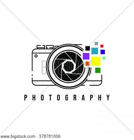 Photography Design With Camera Vector Illustration. Good Template For Photography Logo Design.