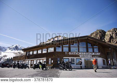 Restaurant Cafe For Austrian People And Foreign Traveler Rest Dining At Kaunertaler Gletscher Restau