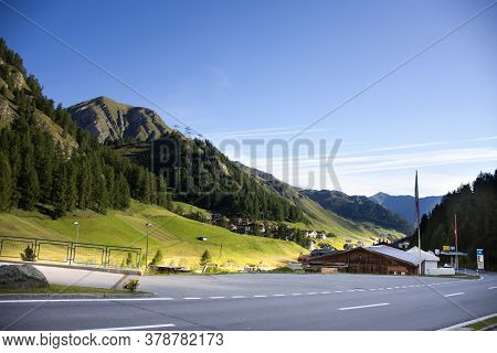 Classic Vintage Retro Building House Resort For Austrian People Living And Foreign Traveler Travel V