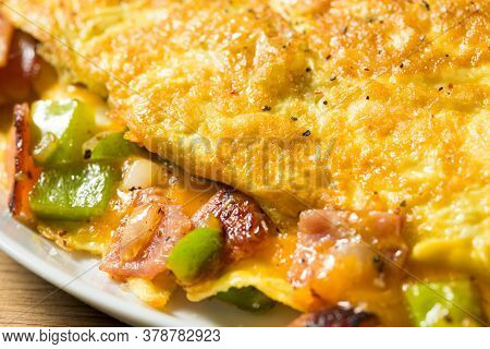 Homemade Ham And Pepper Denver Omelette