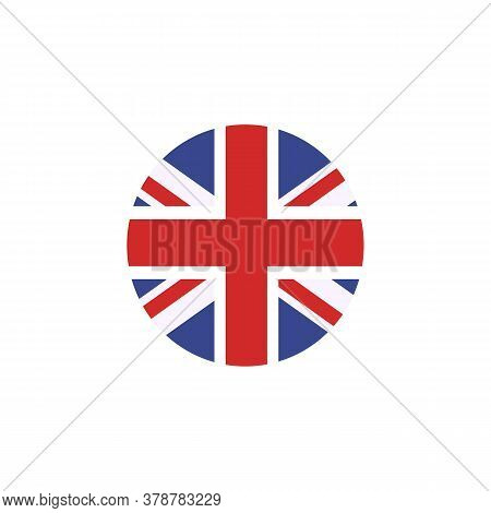 Vector Flag Button Series Of All Sovereign Countries - United Kingdom. Country Symbol - Flat Vector