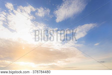 Beautiful Sky In Early Morning Before Sunrise Or Sunset