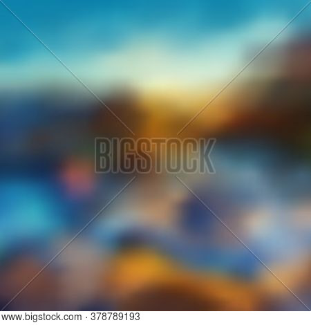 Bright Abstract Background, Beautiful Color Gradient Transitions, Imitation Of A Natural Landscape,