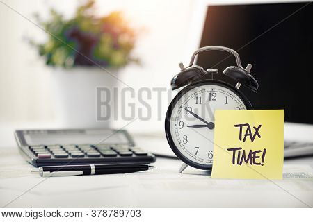 Tax Time Concept. Us Tax Form, Tax Income, Tax Refund Concept