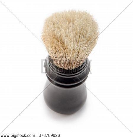 Thick Bristle Of Shaving Brush On White Background