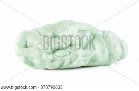 Green Chewing Gum Isolated On White Background