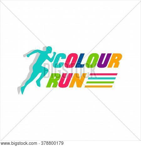 Running Man Silhouette Logo Designs, Marathon Logo Template, Running Club Or Sports Club