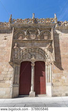 Ornate Doorway  In The City Of Salamanca, Spain
