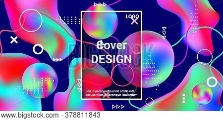 Vintage  Design Poster 3d, Great Design For Any Purposes.  Minimal Style Concept. Colorful Abstract