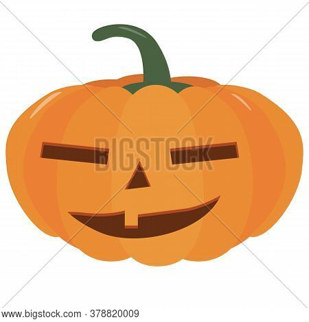 Pumpkin Halloween Holiday. Halloween Pumpkins, Funny Faces. Isolated Vector Sign Symbol. Autumn Holi