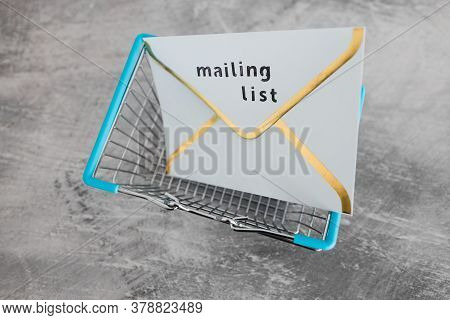 Email Marketing And Promoting Online Sales Concept, Mailing List Email Envelope Icon With Payment Ca