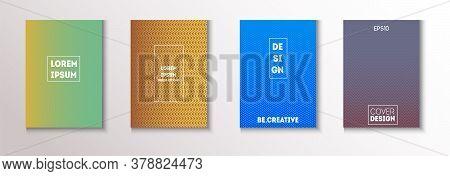 Wavy Minimal Cover Vector Set. 80s Neon Music Poster. Cool Technology Wallpaper. Modern Flyer Textur