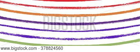 Cool Wavy Zigzag Stripes Vintage Pattern. Summer Spring Distress Stripes. Cool Vector Watercolor Pai