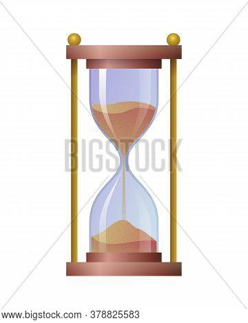 Hourglass Antique Time Measuring Instrument. Sandglass Vintage Clock, Time Management, Punctuality C