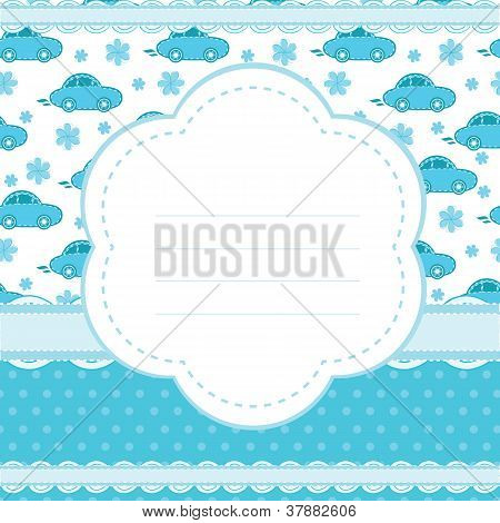 vector background for a baby boy
