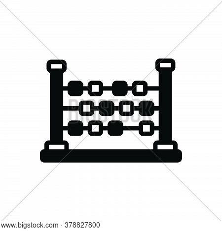 Black Solid Icon For Abacus Ancient Arithmetic Calculation Count Education Learn Mathematical Vintag