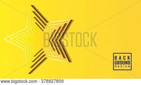 Colorful 3d Star Papercut Layers Vector Illustration. Abstract Background Design Template. Bright Ye