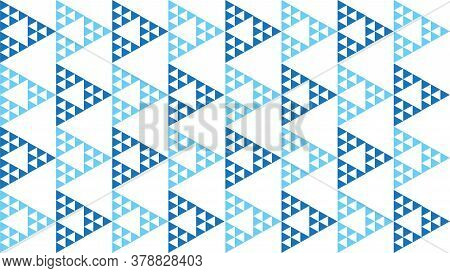 Abstract Geometric Triangle Seamless Pattern Vector Illustration. Background Design Template. Light
