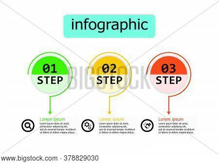 Infographic Vector Design Template For Illustration. Vector Design Presentation Business Infographic
