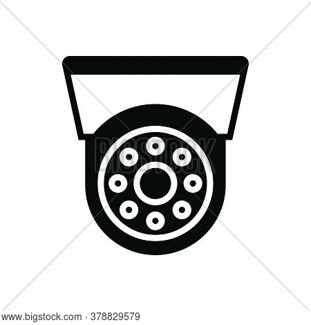 Black Solid Icon For Cctv Camera Security Surveillanc Electronic Monitoring Safety Security Observe