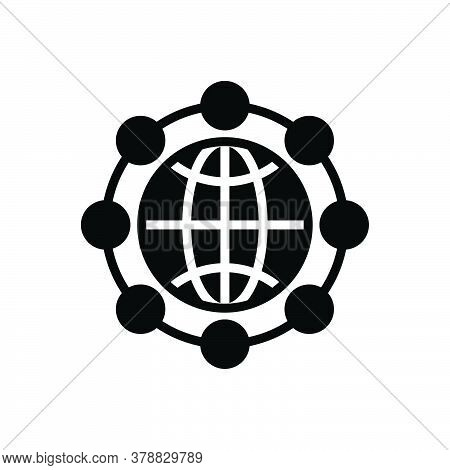Black Solid Icon For Global-network Global Network Communication Tech Digitalisation Technology Cybe