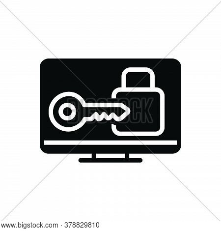 Black Solid Icon For Login Privacy User Keyhole Key Unlock Sign-up Sign-in Technology Monitor Websit