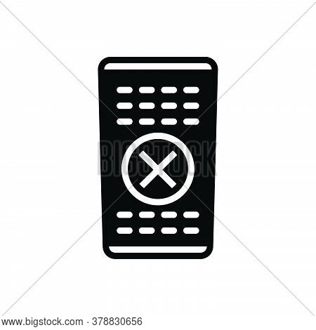 Black Solid Icon For Remote-control Technology Television Tv Applicance Control Device Digital Power