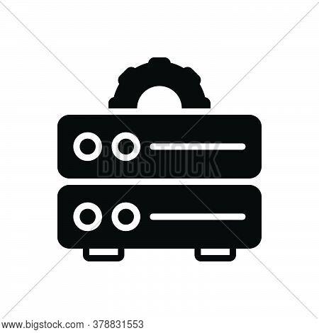 Black Solid Icon For Data-management Data Management Storage File Document Cms Database Server Techn
