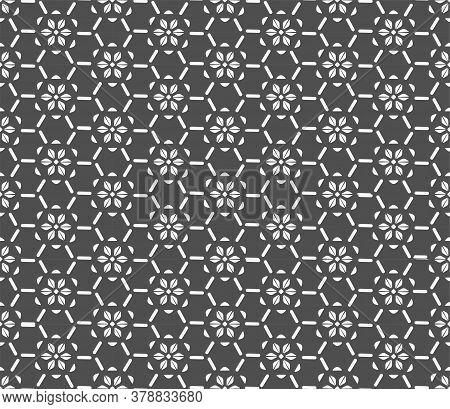 Continuous Islamic Graphic Thirties Wallpaper Texture. Seamless Elegant Vector Plexus Repeat Pattern