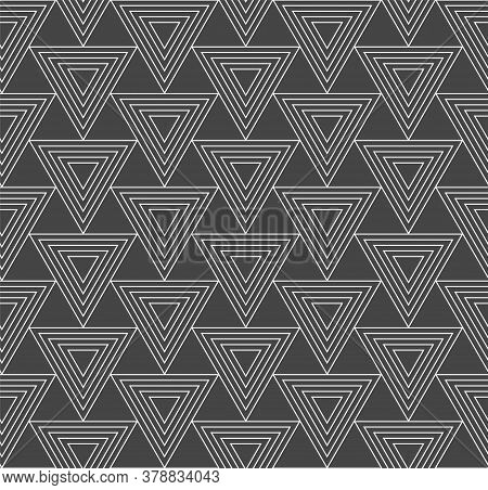 Repeat Wave Graphic Luxury, Texture Texture. Repetitive Classic Vector Triangle Background Pattern.