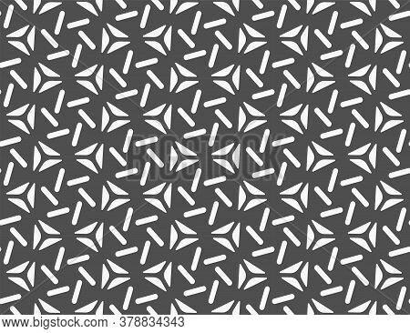 Continuous Elegant Vector Continuous Print Texture. Seamless Monochrome Graphic Great Art Pattern. R