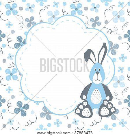 postcard with bunny