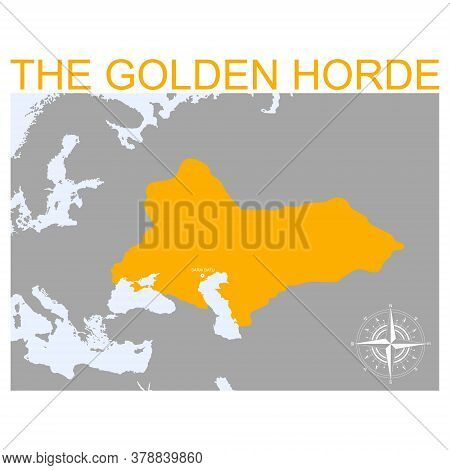 Vector Map Of The Golden Horde For Your Design