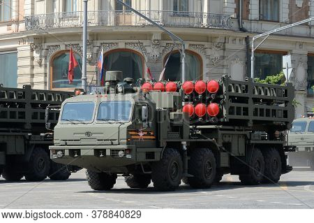 Moscow, Russia - June 20, 2020:the Launcher Of The S-350