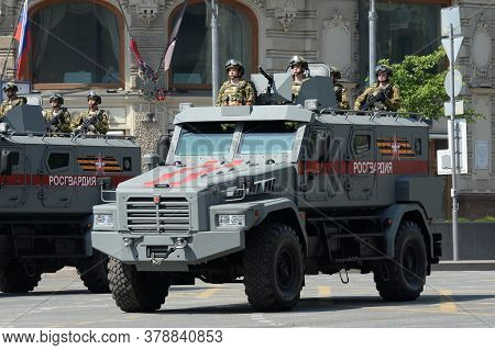 Moscow, Russia - June 20, 2020:russian Armored Vehicle