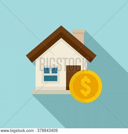 House Buy Online Loan Icon. Flat Illustration Of House Buy Online Loan Vector Icon For Web Design