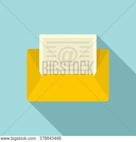 Mail Money Loan Icon. Flat Illustration Of Mail Money Loan Vector Icon For Web Design