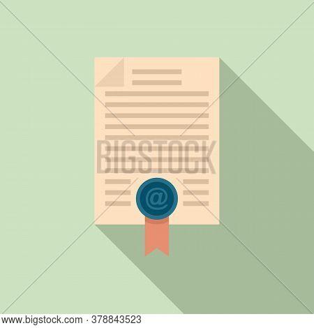 Online Loan Document Icon. Flat Illustration Of Online Loan Document Vector Icon For Web Design