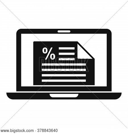 Laptop Online Loan Icon. Simple Illustration Of Laptop Online Loan Vector Icon For Web Design Isolat