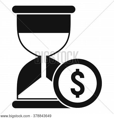 Money Hourglass Online Loan Icon. Simple Illustration Of Money Hourglass Online Loan Vector Icon For