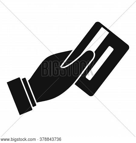 Credit Card Online Loan Icon. Simple Illustration Of Credit Card Online Loan Vector Icon For Web Des