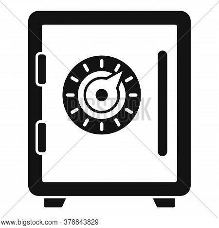 Money Loan Strongbox Icon. Simple Illustration Of Money Loan Strongbox Vector Icon For Web Design Is