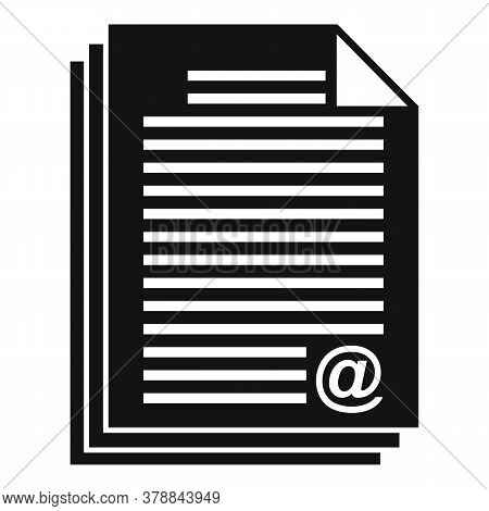 Online Loan Document Stack Icon. Simple Illustration Of Online Loan Document Stack Vector Icon For W
