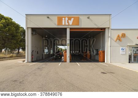 Gallur, Aragon, Zaragoza, Spain - July 27, 2020: Station Number 5011 For Technical Vehicle Inspectio