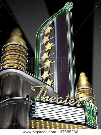 Deco Theater Night Neon