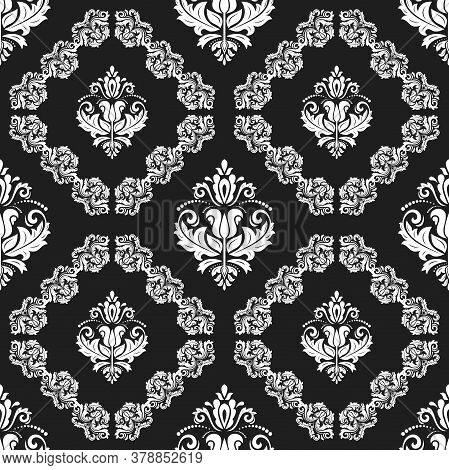Orient Vector Classic Dark Pattern. Seamless Abstract Background With Vintage Elements. Orient Backg