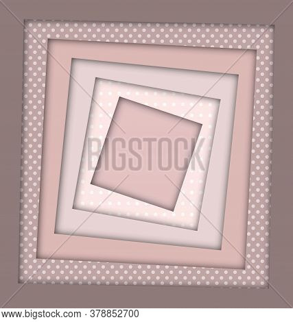 Abstract Beige Colored Image Of Square Frames