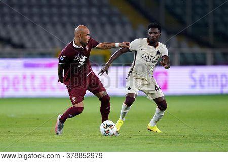 Torino (italy). 29th July 2020. Italian Serie A. Torino Fc Vs As Roma.simone Zaza Of Torino Fc    .
