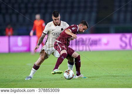 Torino (italy). 29th July 2020. Italian Serie A. Torino Fc Vs As Roma.alejandro Berenguer Of Torino